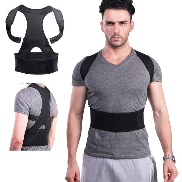 Back Posture Corrector Shoulder Lumbar Brace Spine Support Belt Adjustable Adult Magnetic Therapy Correction Belt Body Health #372376
