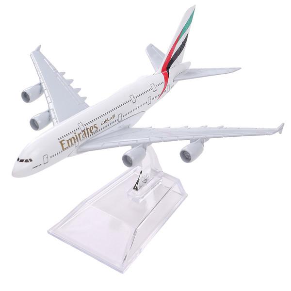 Новый Airbus380 Airlines A-380 самолет Аэроплан 16 см литья под давлением модель Объединенных Арабских A380 высокой моделирования