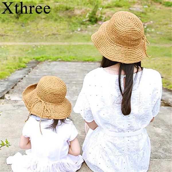 wholesale two size handmade Weave straw women summer hat kids panamas Vintage Sinamay Fascinator hat for girl