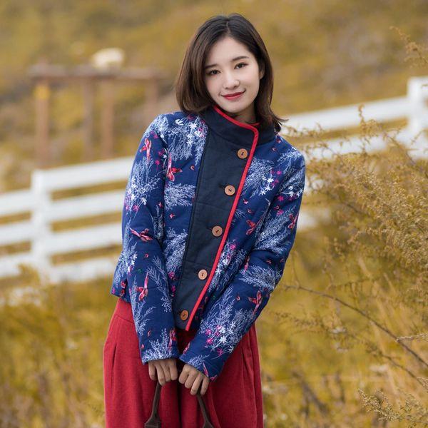 cd93c249e0 Mujer Nueva Algodón Nacional Chino Invierno Viento Compre RZqxpzwq