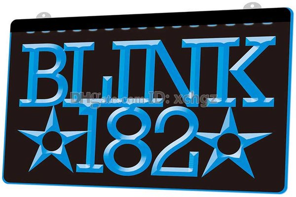 [LS0222] Blink 182 Rock N Roll Music Bar NEW 3D Engraving LED Light Sign Customize on Demand 8 colors