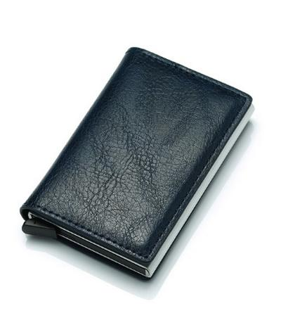 Credit Car Holder Anti-Theft Automatic Wallet Card Case Men Mini Leather Male Purse Foreign Trade Credit Card