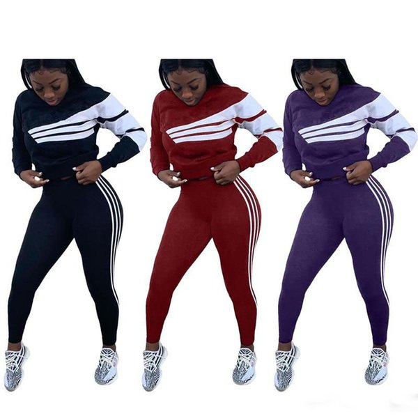 Brand Designer women shirt leggings tracksuit pullover pant 2 piece set outfits clothes sweatsuit long sleeve t shirt tights sportswear