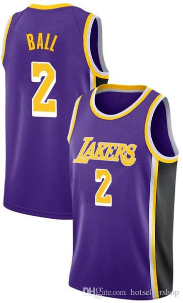 new product f82a7 10bba 2019 Retro Magic 32 Johnson Lakers Jersey Kobe 24 Bryant 8 LeBron 23 James  Lonzo 2 Ball Brandon 14 Ingram Kyle 0 Kuzma Los Angeles From ...