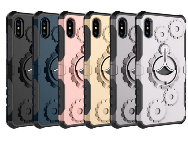 Luxury Multifunctional Gear Arm Belt Protective Cover With Kickstand Stand Holder Case For IphoneXS MAX XR XS 8 7Plus