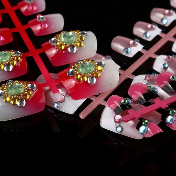MSQ 2019 144pcs Mixed Set False Nail Tips Artificial Fake Nails Art Acrylic Manicure Gel Wholesale Z4