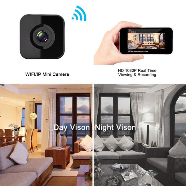 Drop shipping 1080P HD WIFI Mini telecamera Night Vision Motion Rileva Mini videocamera Videoregistratore Loop Piccola webcam Web wireless