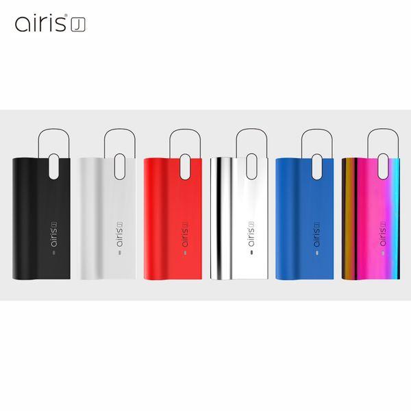 Original airis j caixa mod kit e bateria de cigarro vape mods 420 mah auto bateria com micro usb carregador para cartuchos de vagens de óleo grosso
