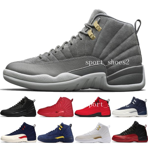 Hot 12s Winterized WNTR Gym Red Michigan Mens Basketball Shoes The Master Flu Game Chinese New Year 12 men sports sneaker designer trainers