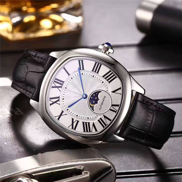 2019 New Best Selling luxury watches moon phase mens watches Drive Series imported automatic mechanical movement waterproof free shipping