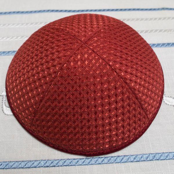 Personalized jacquard diamond shape fabric kippot, kippah, yarmulke Deluxe customize kippa kipa skullcap Jewish cap for wedding bar-mitzvah