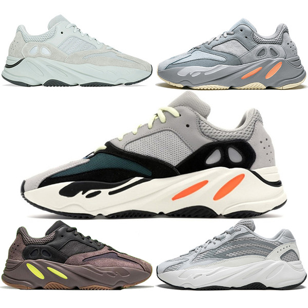 Boost 700 V2 Running Shoes Men Women Inertia Wave Runner Mauve Static Salt Geode Triple Black White Kanye West Sport Sneaker Size 5-11
