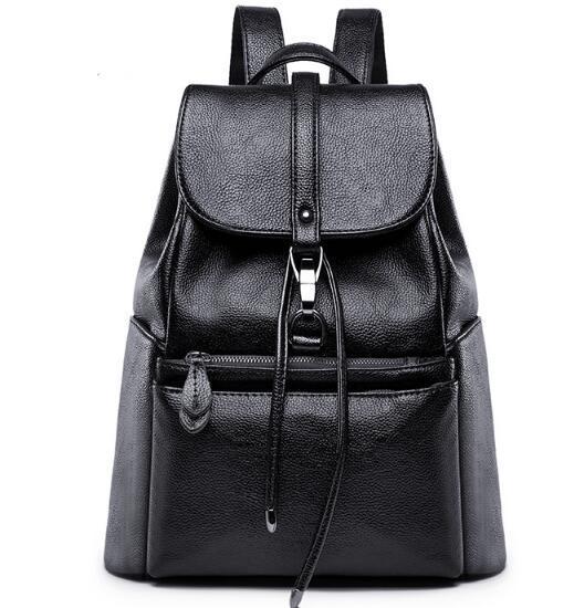 2019 High quality PU Backpack Leisure backpack lady bag travel bag Small big capacity Handbag Woman bag Backpack Style Fashion Bags Mini