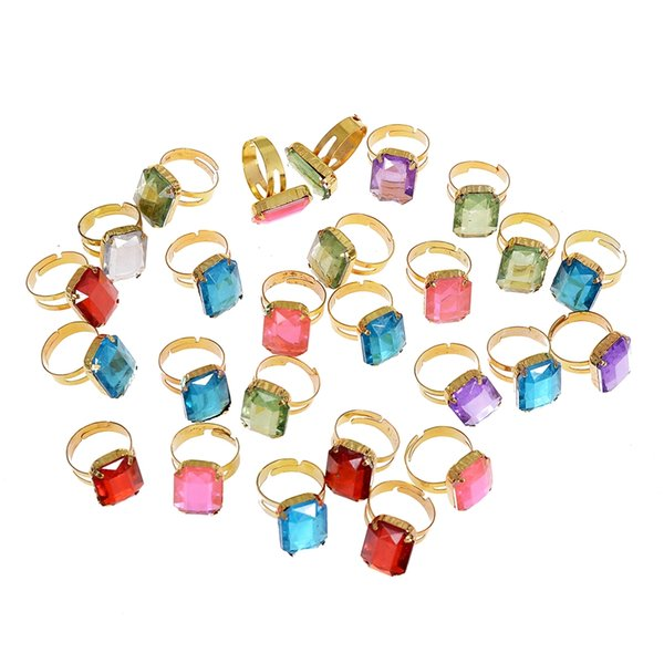 100pcs High Quality Colorful Ring For Children For Gifts Birthday Creative Gift Random Colors Jewelry Size Diameter 16-17