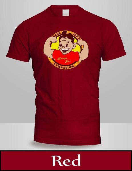 Moyenne Joe's Logo T-shirt Hommes Top Rouge Couleur Dodgeball Joes Gym Sport Shirt 3 Funny livraison gratuite Unisexe Casual