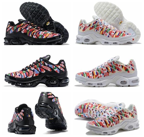 Yeni Dünya Kupası Uluslararası Bayrağı NIC QS Erkekler Kadınlar Için TN Artı Koşu Ayakkabıları Sneakers Sınırlı Tns Spor Ayakkabı Chaussures Boyutu 36-46