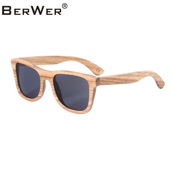 BerWer 2019 Zebra солнцезащитные очки из дерева Поляризованные солнцезащитные очки для мужчин Мужские очки UV400 Защитные очки Cork Original Box