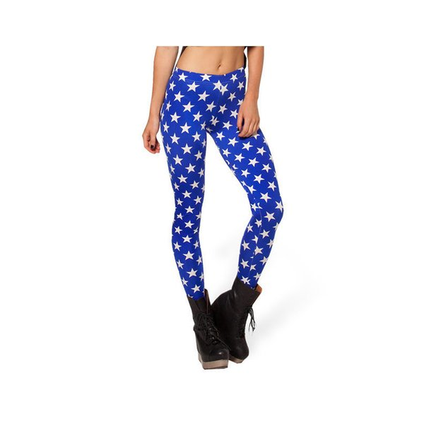 Lady Leggings Star 3D Graphic Full Print Spring Summer Autumn Yoga Wear Pants Girls Stretchy Trousers Women Fitness Gym Jeggings (YLgs3179)
