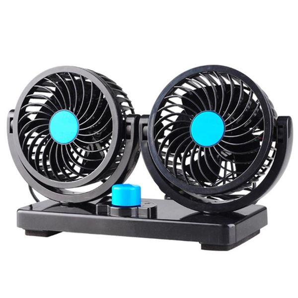 USB Dual Head Car Cooling Fan 12V//24V Auto Dashboard Ventilation Air Fan Cooler