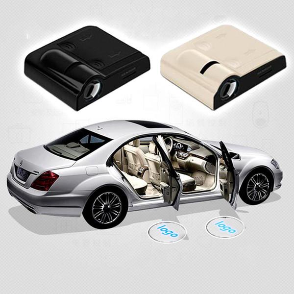 Proiettore laser di benvenuto senza fili per portiere di auto Logo GhosShadow Light per Volkswagen Ford BMW Toyota Mercedes-Benz Mazda VW Spedizione gratuita