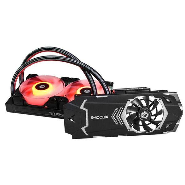 ICEKIMO 240VGA-RGB Вентилятор водяного охлаждения Встроенный радиатор охлаждения радиатора Радиатор с двумя вентиляторами для GeForce / AMD Dropshipping