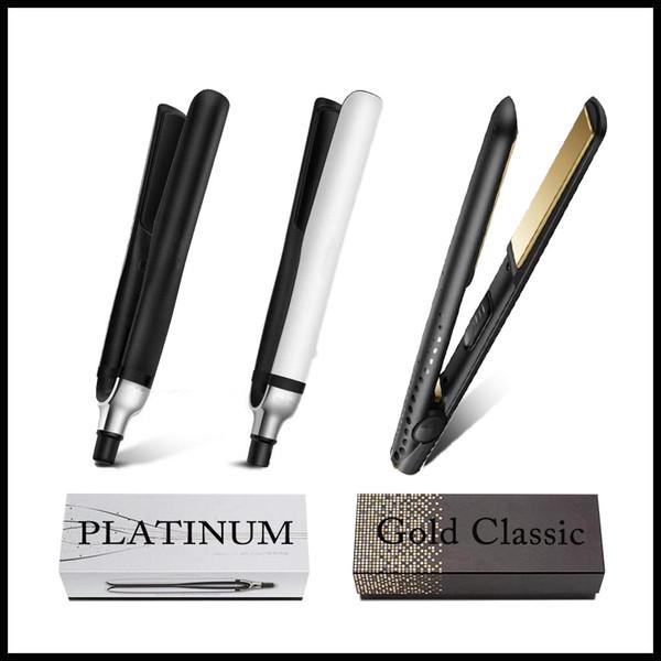 best selling EU US AU UK PLATINUM Hair Straighteners Professional Styler Flat Hair Iron Straightener Hair Styling Tool Good Quality V Gold Max