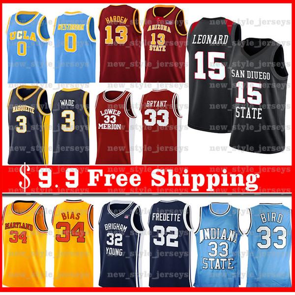 Kawhi Leonard Jersey 2 NCAA Masculino 13 Paul George Jimmy Butler, 22 Kemba Walker 8 jerseys del baloncesto