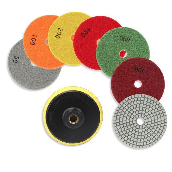 10PCS 4/'/' Inch Diamond Wet//Dry Polishing Pads For Granite Marble Concrete Stone