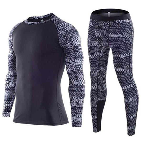 Erkekler GYM Fitness Koşu Tayt Basketbol Futbol Setleri Hızlı Kuru Legging + Üst Egzersiz Egzersiz Spor Yoga Pantolon + Gömlek A02