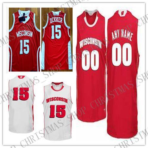 buy online 0e362 74b0e 2019 Custom Wisconsin Badgers Basketball Jersey 0 D'Mitrik ...