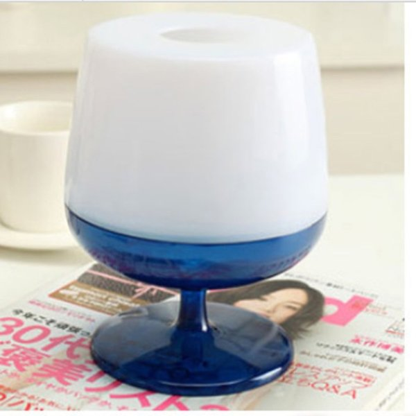 Fashion Creative Red Wine Glass Paper Towel Tissue Box Blue stylish and bright colors