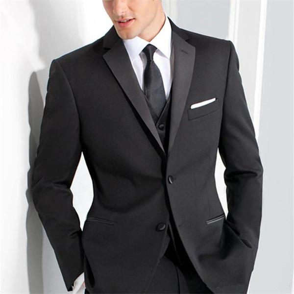 New Style Groomsmen Noivo Smoking Pico Lapela Ternos Dos Homens de Casamento Melhor Homem Noivo (Jaqueta + Calça + Colete)