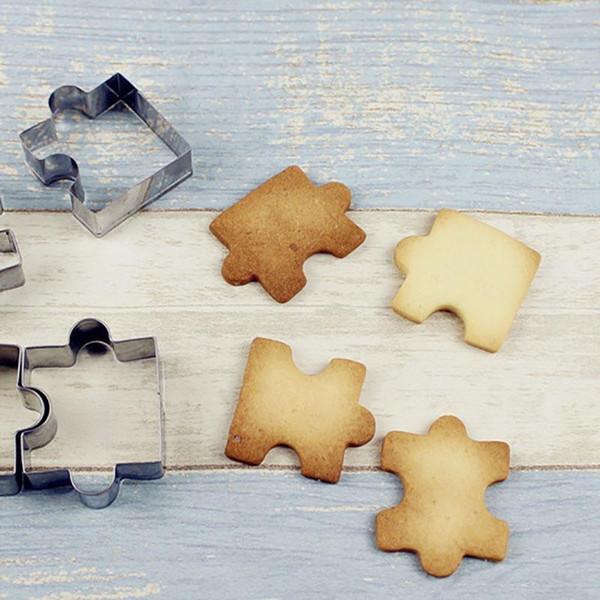 Biscuits En Acier Inoxydable Moule Enfants Puzzle Moules Bricolage Main Moules Fraises
