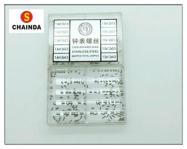 Free Shipping 1000 PCS 1.2mm Diameter Stainless Steel Clock / Eyeglass and Watch Repair Screw Kit