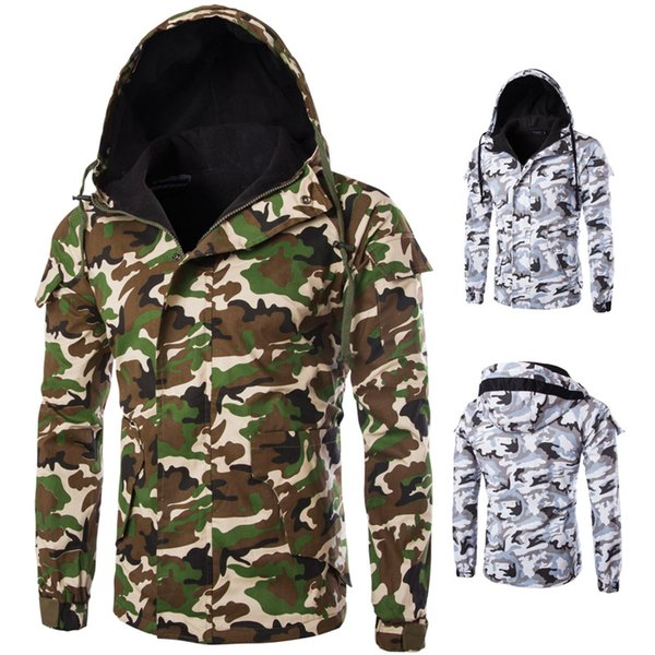 [standard code] european selling cotton coat autumn and winter new style camouflage women men hooded cotton-padded thumbnail