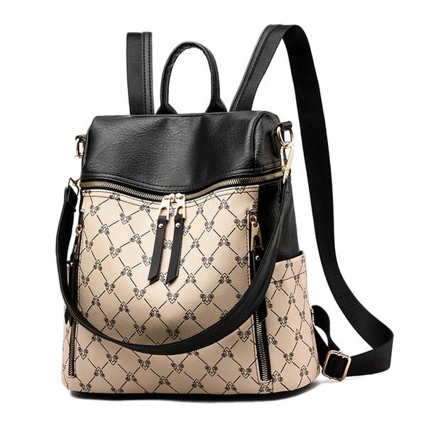 8fadb519ed97 2019 New Women Backpack PU Leather Luxury Female Shoulder Bag Waterproof  School Bags For Girls Backpacks Travel Books Rucksack Backpacks For Girls  ...