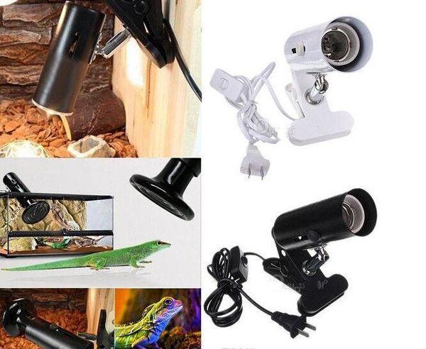 Enchufe de EE.UU. enchufe de la UE enchufe de AU lámpara de calor pantalla de la pantalla pantalla de la lámpara de reptil sombra de la abrazadera (animal de sangre fría del reptil)