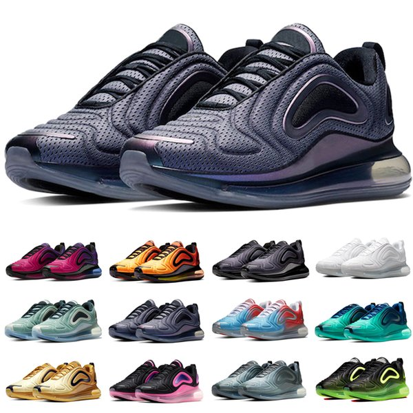 Nike Air Max 720 Homens Mulheres Sapatilhas Tênis de Corrida Do Sol Do Nascer Do Sol Luzes Do Mar Da Floresta de Carbono Cinza Mar De Topo Esporte Sapato Tamanho 36-45