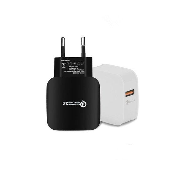 QC3.0 Mobile Phone Charger Certified Smart USB Charging Head for Universal Digital Power Adapter Fast Charging Certificated CE FCC ROHS