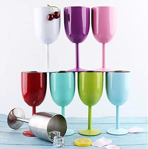 e709f73faac 2019 Stainless Steel Wine Glasses 10 Oz Double Wall Insulated Goblets Red  Wine Glass Novelty Goblet With Lid Unbreakable Cups From Hc_network003, ...
