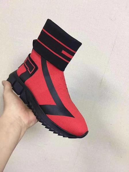 Chaussures femmes hommes Chaussures de marque Casual chaussettes unisexe Knit Sorrento ace Sneaker Turquoise Mesh Sneakers Chaussures Casual 091