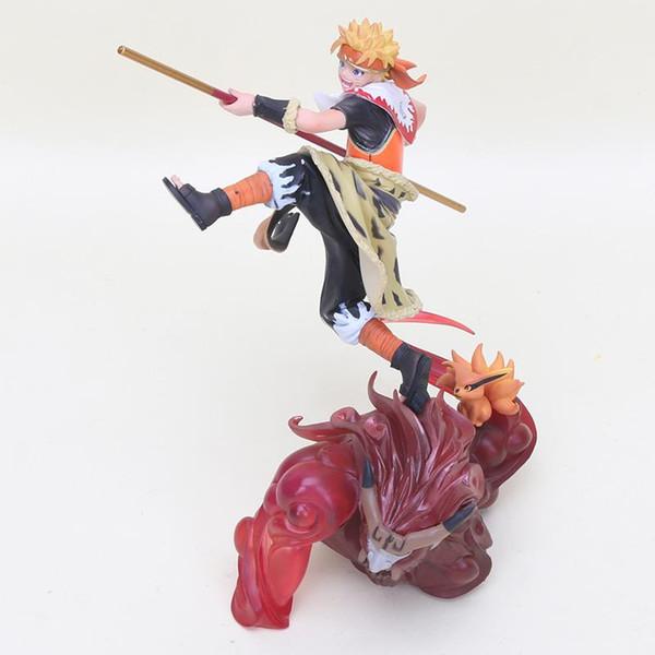 20 cm Anime Naruto Shukuden Uzumaki Figura Naruto Cos O Rei Macaco Son Goku Action Figure PVC Coleção Modelo Brinquedos