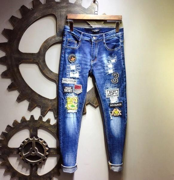 Calça jeans de alta qualidade de 2019 novos homens hc32506