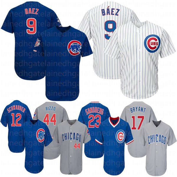 promo code 33af1 16102 2019 Chicago Jersey Cubs Javier Baez 9 Anthony Rizzo 17 Kris Bryant Kyle  Schwarber Willson Contreras David Bote Jon Lester Baseball Jerseys From ...