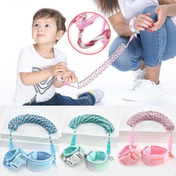 Pink Safety Leash Anti Lost Wrist Strap Baby Kid Walk Child Toddler Link Harness
