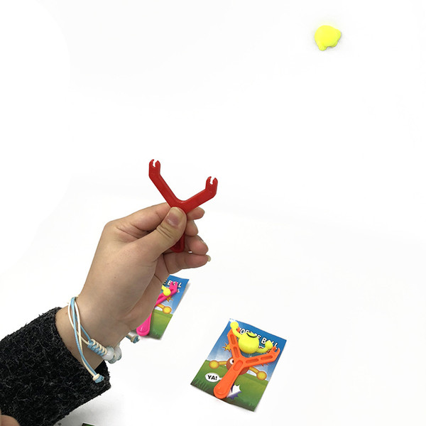 Kids Catapult Emoji Smile Slingshot Sling Shot Anti-stress Toys for Children Adults Outdoor Hunting Tools Funny Toys
