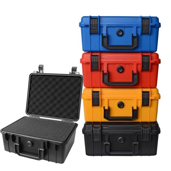 280x240x130mm Boîte à outils pour outils de sécurité ABS Boîte de rangement en plastique ABS étanche Boîte à outils étanche avec mousse à l'intérieur de 4 couleurs