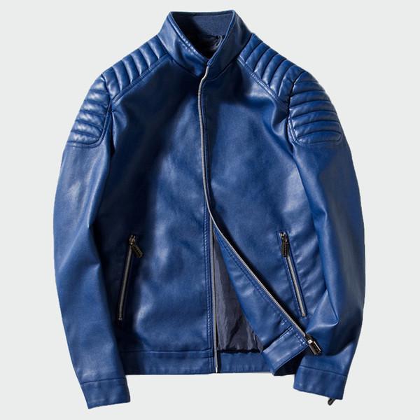 Men's Leather Jackets Autumn Winter Pu Faux Leather Coats Men's Biker Outerwear Motorcycle Slim Jacket Mens Brand M-4xl Ml031