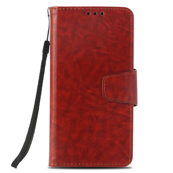 Rétro PU Étui portefeuille pour Xiaomi Redmi Note 5A Housse pour Redmi Y1 Inde Flip Cover Kickstand Cas avec Poche pour carte