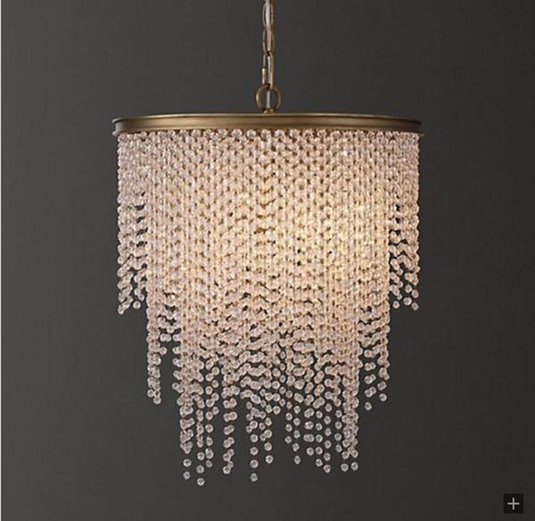 Modern Crystal Chandelier Lighting Dining Room Kitchen Island Bedroom Chain Loft Chandeliers Ceiling Bronze Light Fixtures